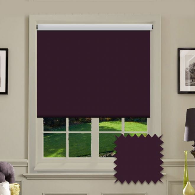 Plain Roller in Carnival purple Patterned Fabric - Just Blinds